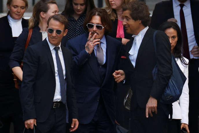 L'acteur Johnny Depp, à la sortie du tribunal, le 17 juillet à Londres.
