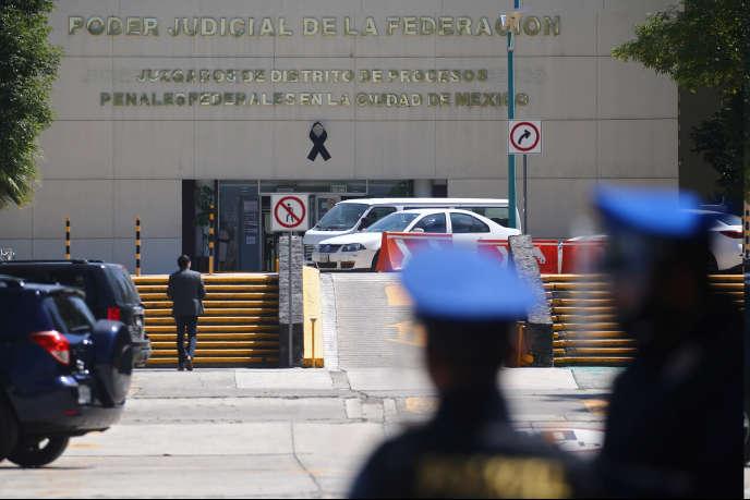 La prison où est enfermé Emilio Lozoya, l'ancien président de l'entreprise nationale de pétrole Pemex, à Mexico, le 17 juillet.