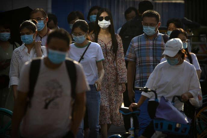 Dans le quartier des affaires de Pékin, le 15 juillet.