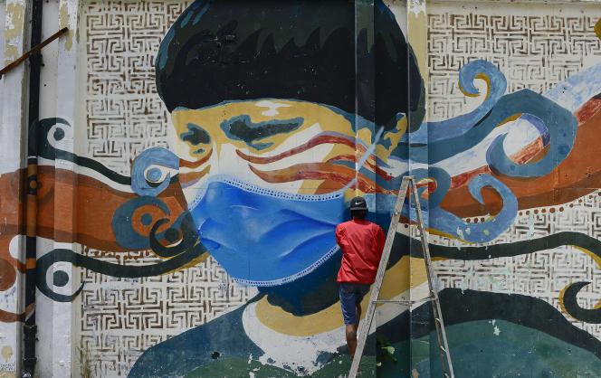 Une fresque murale à Caracas (Venezuela), le 18 juillet.
