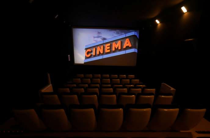 Une salle de cinéma vide, le 2 juillet à Nice.