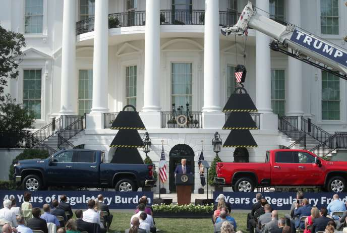 Le Président Donald Trump, lors d'un événement sur la pelouse de la Maison Blanche, le 16 juillet.