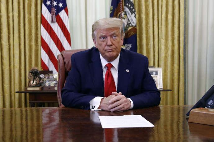 Le président Donald Trump, le 15 juillet à la Maison Blanche.
