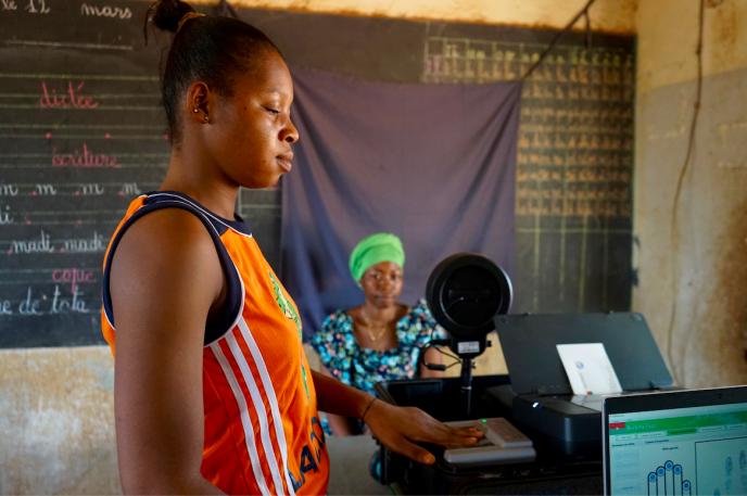 A Ouidi, quartier de Ouagadougou. Les Burkinabés avaient jusqu'au 16 juillet 2020 pour s'inscrire sur les listes électorales en vue des scrutins présidentiel et législatif du 22 novembre.