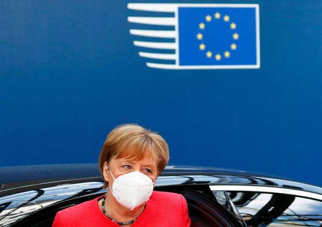 La chancelière allemande, Angela Merkel, à Bruxelles, le 20juillet2020.