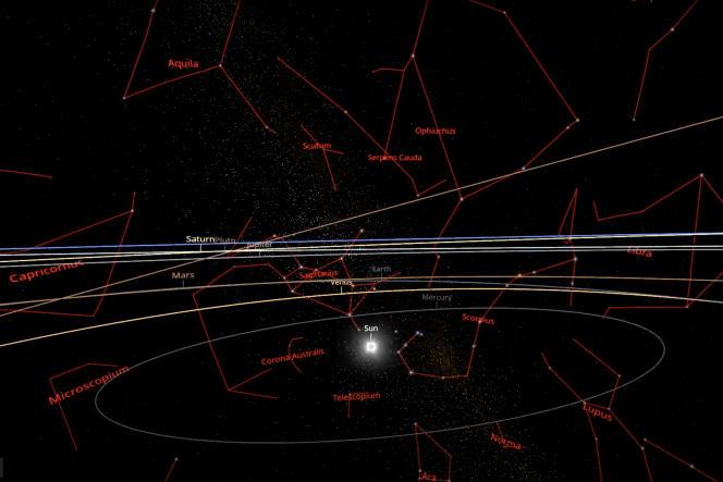 La carte montre qu'à un certain moment l'expansion de l'Univers s'est accélérée.