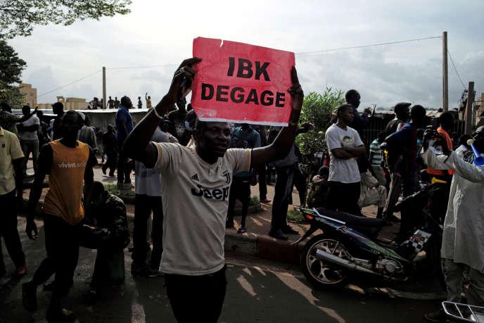 Manifestation à Bamako contre le régime du président Ibrahim Boubacar Keïta, le 10 juillet 2020.