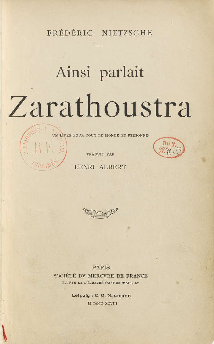 La page de titre de la ­traduction de 1898.