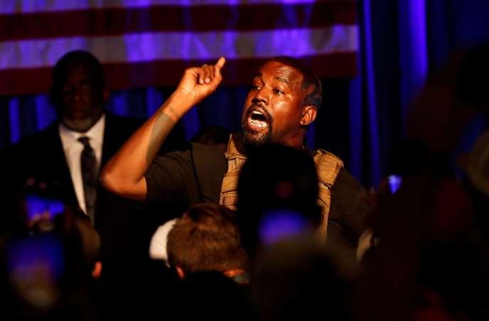 Kanye West le 19 juillet en Caroline du Nord.