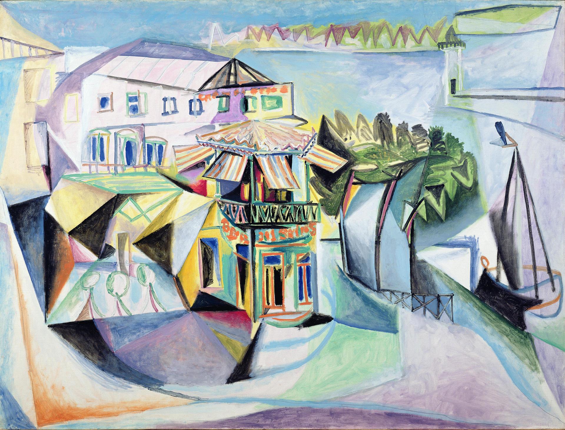 «Cafe à Royan» (1940), de Pablo Picasso (1881-1973). Musée Picasso, Paris. (c) Succession Picasso 2018.