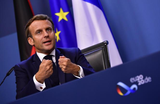 Emmanuel Macron à Bruxelles, le 21 juillet.