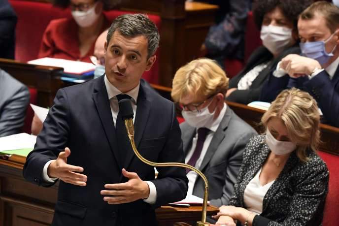 Le ministre de l'intérieur, Gérald Darmanin, dans l'hémicycle de l'Assemblée nationale, mardi 21 juillet, à Paris.