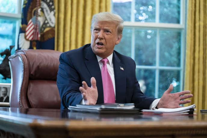 Le président Donald Trump, le 20 juillet à la Maison Blanche.