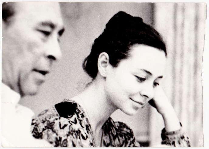 Valentin Berlinsky et sa fille Ludmila, à Klin, en Russie, en 1987.