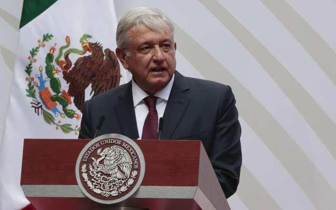 Le président mexicain Andrés Manuel Lopez Obrador au Palais national de Mexico le 5 avril.