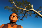 Aritana Yawalapiti, dans le parc national de Xingu, le 9 mai 2012.
