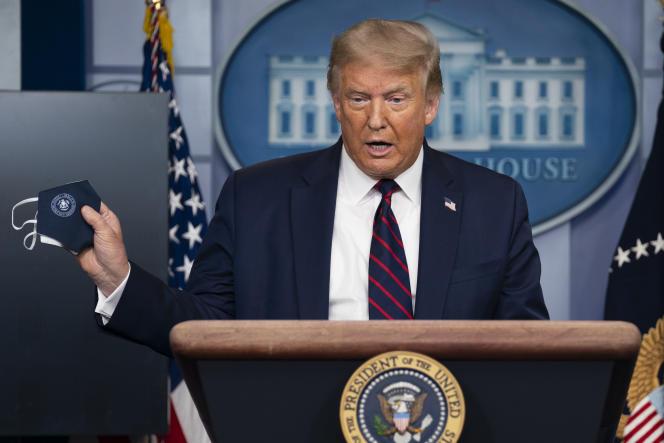 Le président Donald Trump, en conférence de presse, le 21 juillet, à la Maison Blanche.
