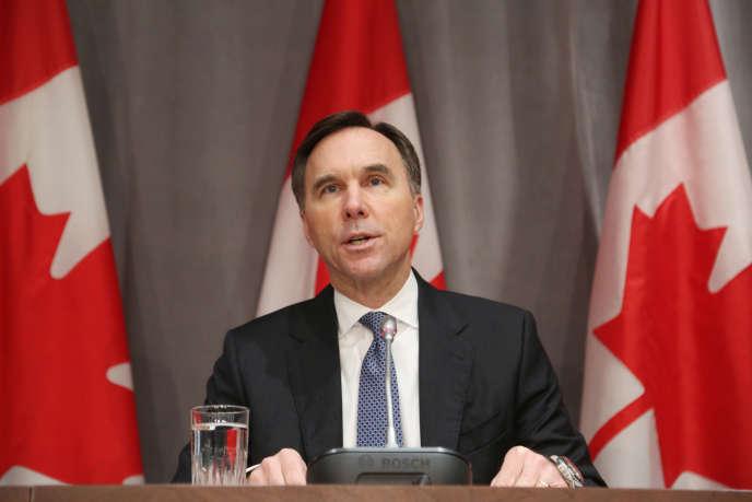 Le ministre canadien des finances, Bill Morneau,à Ottawa, le 18 mars.