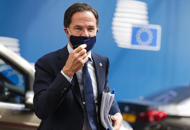 Le premier ministre néerlandais, Mark Rutte, le 20 juillet, à Bruxelles.