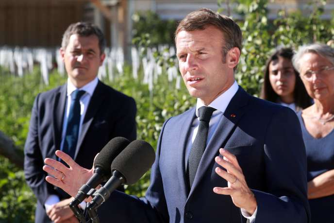 Emmanuel Macron, à Chambord, mercredi 22 juillet.