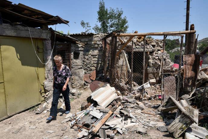Le village d'Aygepar, dans la région arménienne de Tavoush,a subi des bombardements,le 18 juillet,lors d'affrontements à la frontière arméno-azerbaïdjanaise.