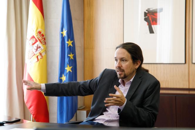 Pablo Iglesias, deuxième vice-président du gouvernement de coalition de gauche en Espagne, le 21 juillet à Madrid.