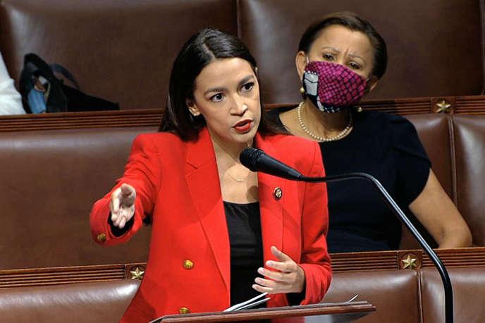 Alexandria Ocasio-Cortez, le 23 juillet à Washington au Congrès.