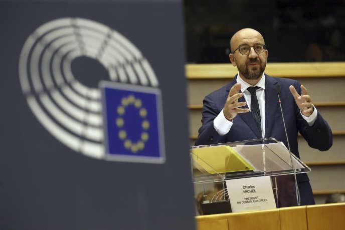 Le président du Conseil européen, Charles Michel, à Bruxelles, le 23 juillet.