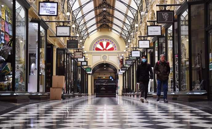 La galerie marchande Royal Arcade, dans le centre de Melbourne, vendredi 10 juillet.