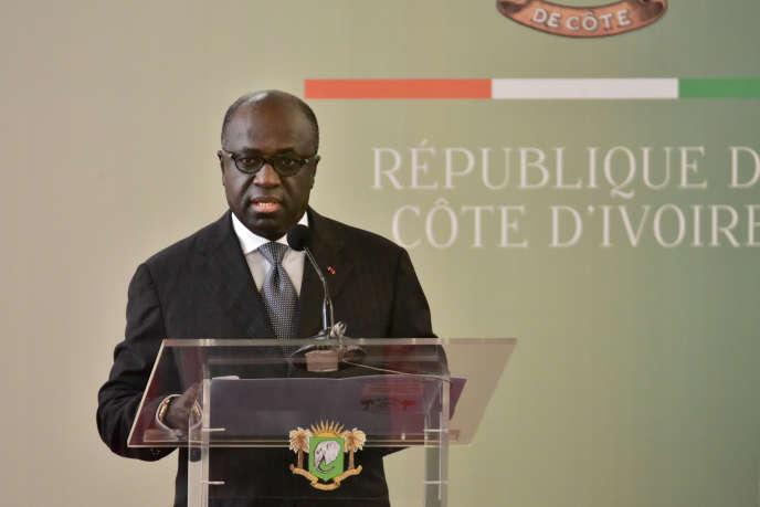 Le ministre ivoirien des affaires étrangères Marcel Amon Tanoh à Abidjan le 2 octobre 2017.