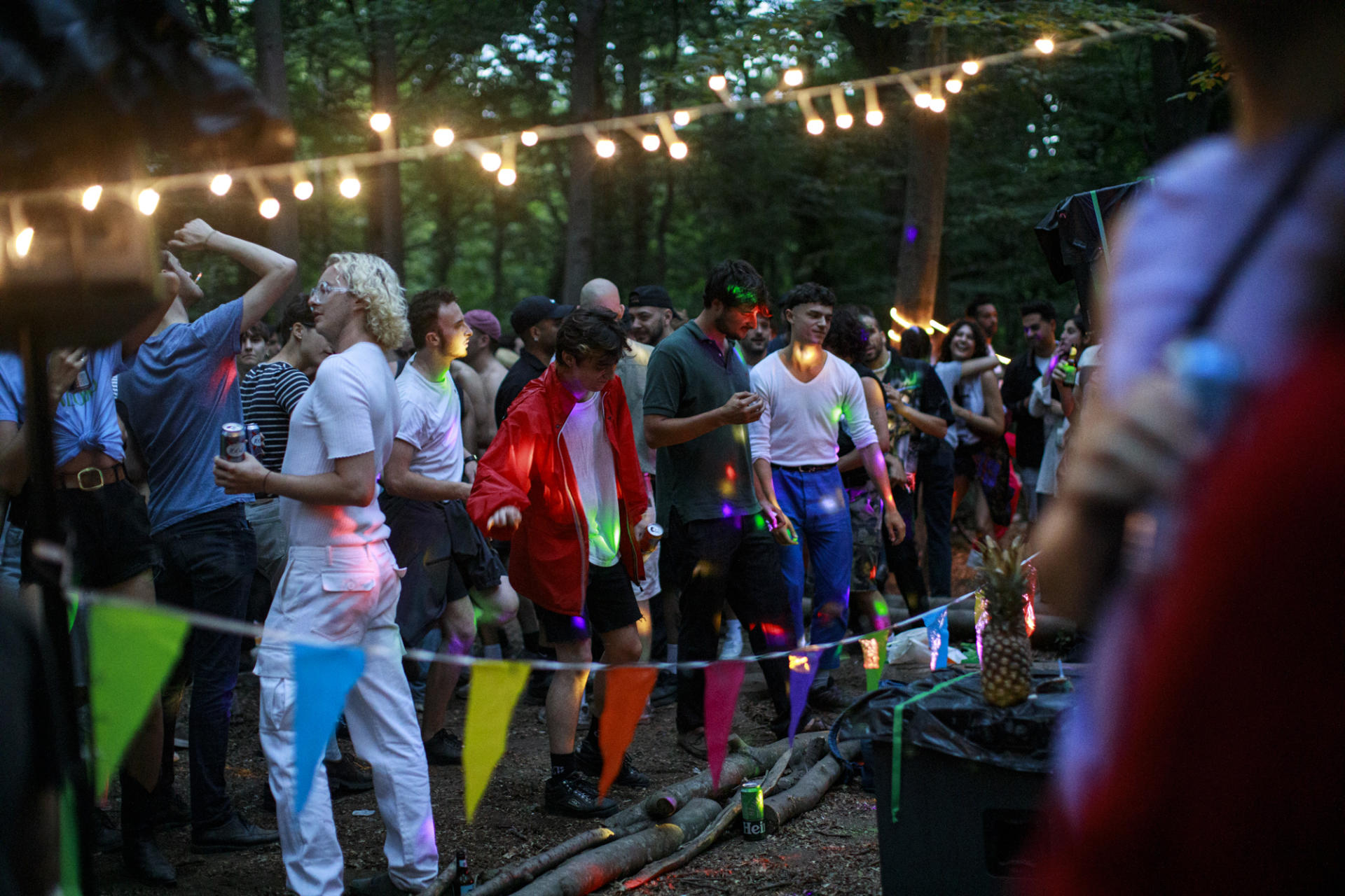 Free party dans le bois de Vincennes, le 27 juin.