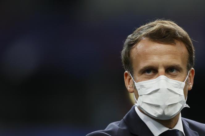 Emmanuel Macron àSaint-Denis, près de Paris, le 24 juillet.