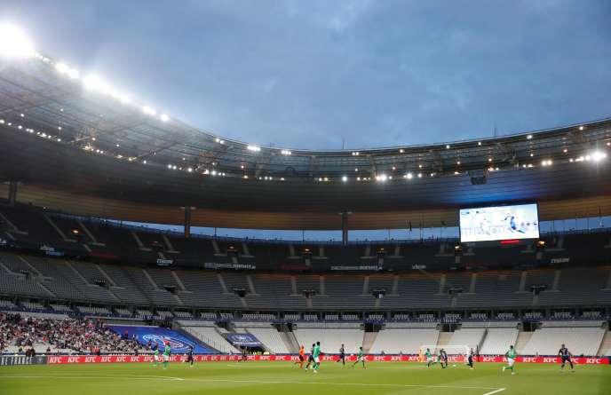Une vue du Stade de France, à Saint-Denis, lors de la finale de la Coupe de France de football, disputée le 24juillet.