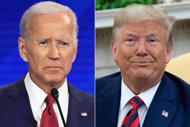 Les deux principaux candidats à l'élection présidentielle américaine de 2020, JoeBiden et DonaldTrump.