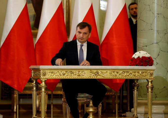 Le ministre polonais de la justice, Zbigniew Ziobro,le 15novembre2019.