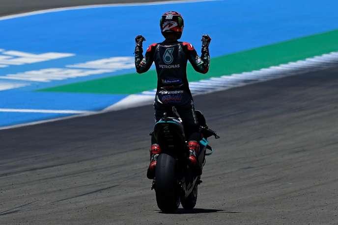 Le Français Fabio Quartararo a remporté dimanche 26 juillet à Jerez (Espagne) son deuxième Grand Prix de MotoGP.