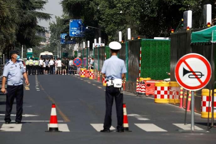 Le quartier autour du consulat américain à Chengdu (Chine) a été bouclé, le 27juillet.