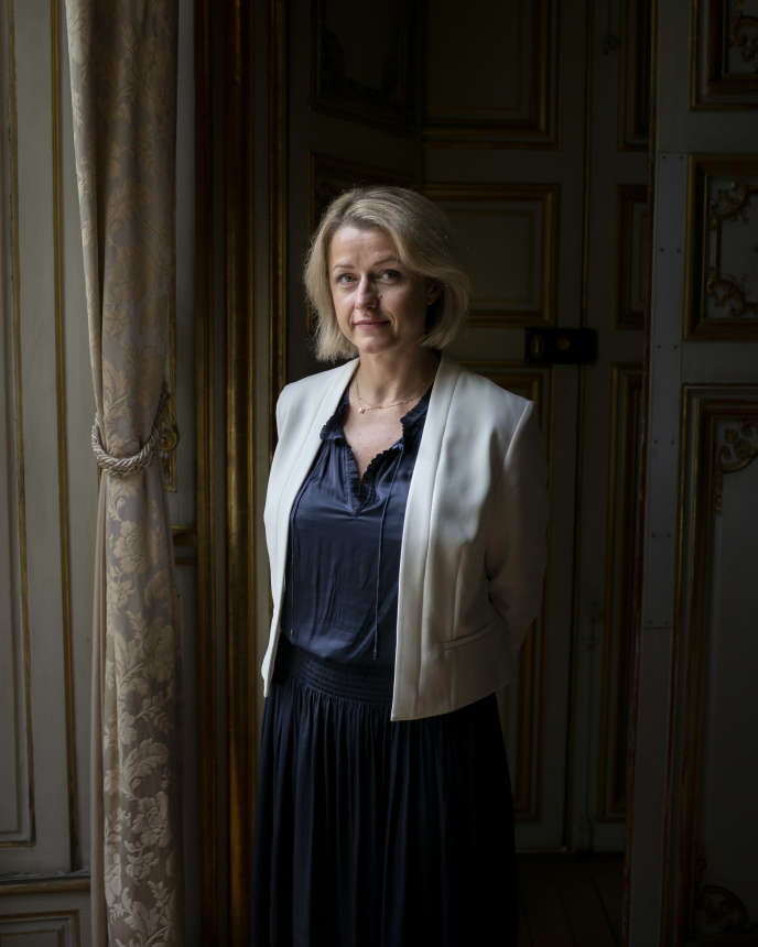 La ministre de la transition écologique, Barbara Pompili, à Paris, le 24 juillet 2020.