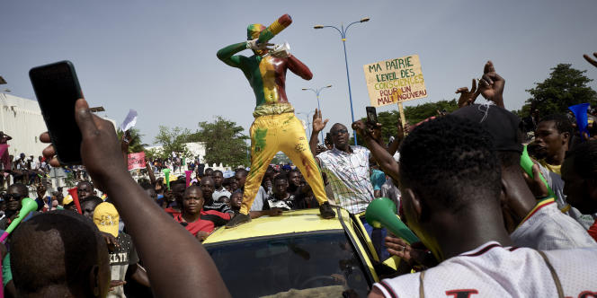 Le 19 jui 2020, à Bamako, lors d'une manifestation contre le président malien Ibrahim Boubacar Keïta.