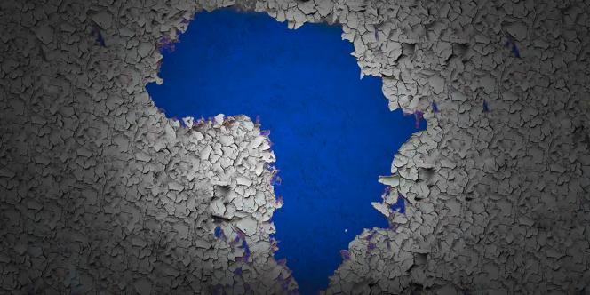 Affiche de l'exposition panafricaine itinérante« Prête-moi ton rêve», qui a transité en mars 2020 par le Musée des cultures contemporaines d'Abobo, à Abidjan, en Côte d'Ivoire.