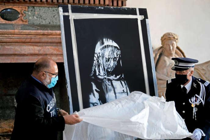 Banksy's unbelievable journey stolen from Bataclan, then present in Italy
