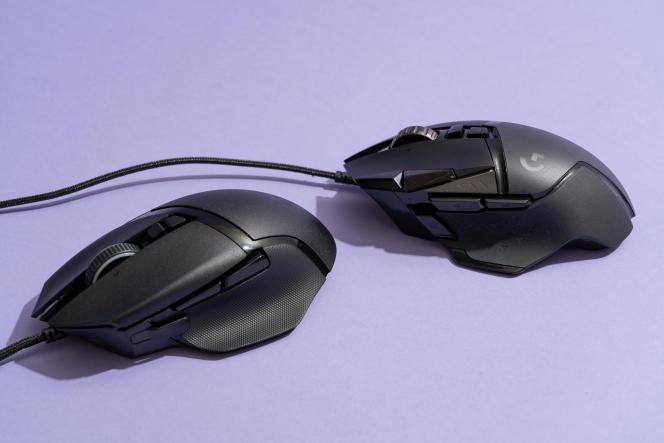 La Basilisk 2 (à gauche) est presque exactement de la même taille et de la même forme que la G502 Hero.