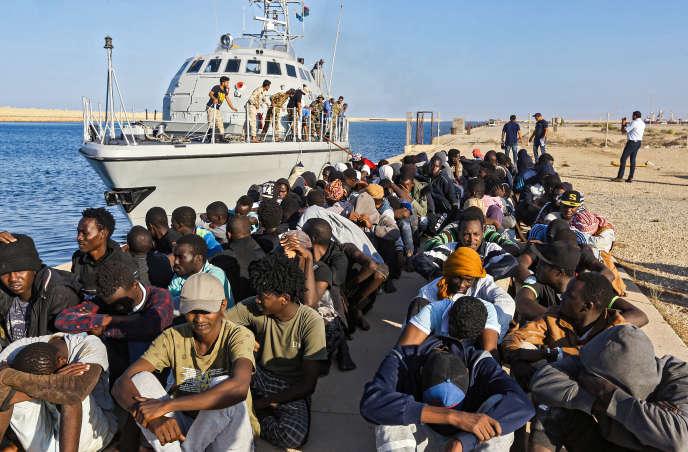 Près d'Al-Khoms, en Libye, en octobre 2019.