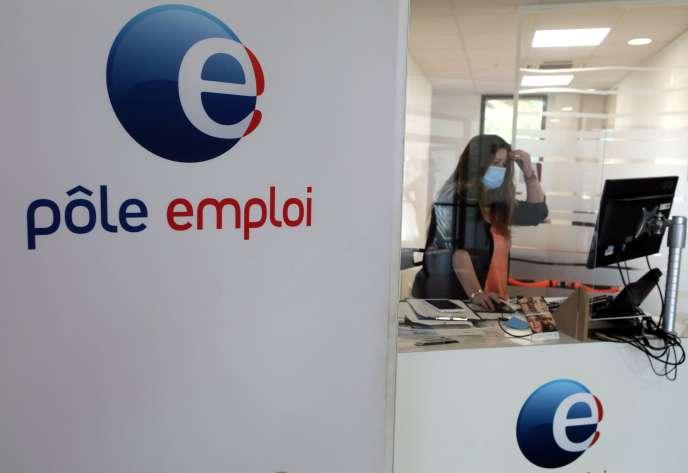 Une agence Pôle Emploi d'Antibes (Alpes-Maritimes) le 29 juin.