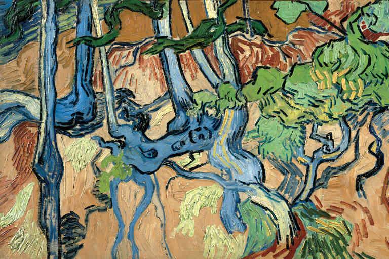 Racines. Peint par Van Gogh le 27 juillet 1890 à Auvers-sur-Oise, conservé aujourd'hui au Musée Van Gogh d'Amsterdam.