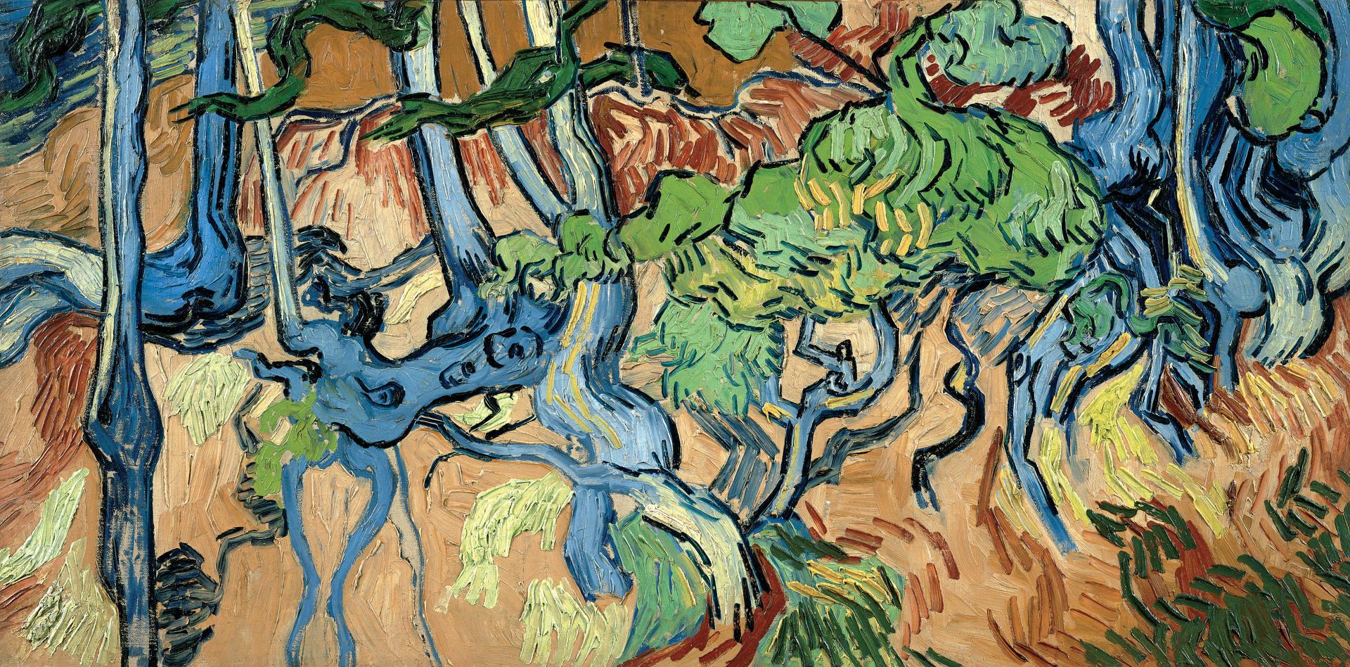 «Racines d'arbres»est le dernier tableau, inachevé, de Vincent Van Gogh, peint le 27 juillet 1890 à Auvers-sur-Oise.