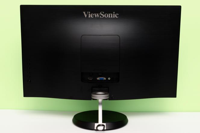 Le dos de l'écran, avec son pied qui permet de l'orienter de gauche à droite et de haut en bas.