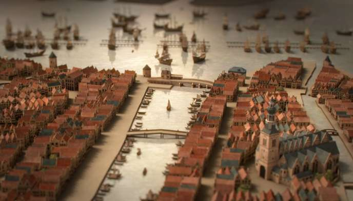 Maquette du port d' Amsterdam.