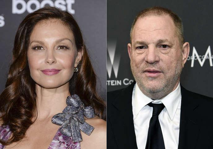 Ashley Judd et Harvey Weinstein,à New York, le 16 mars 2015.