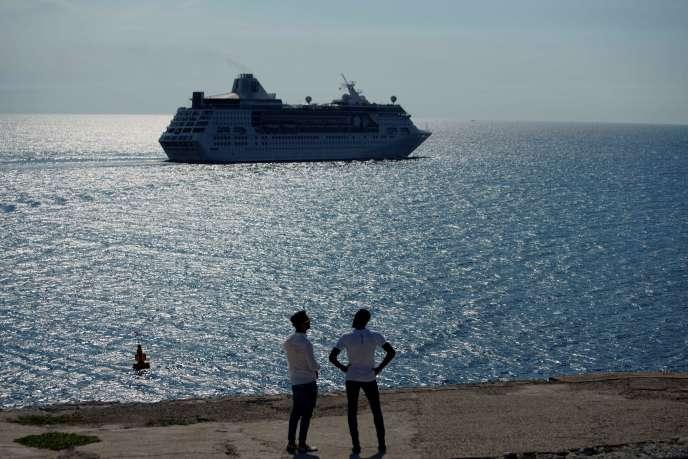 Un navire de croisière à Cuba, le 5 juin 2019.